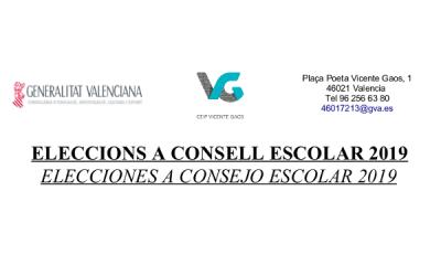 ELECCIONS A CONSELL ESCOLAR 2019